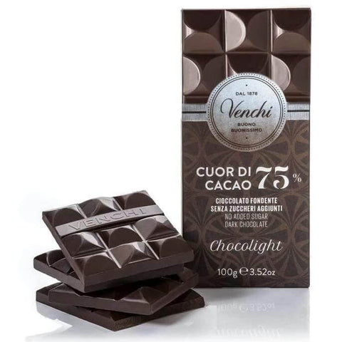 Chocolight 75% Dark Chocolate - 100g bar VENCHI