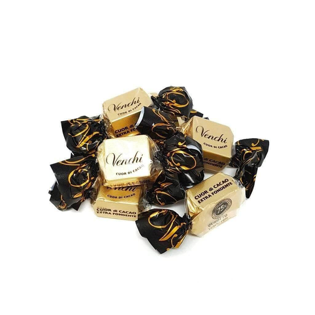 VENCHI chocolate Cubotto Extra Dark Filled Chocolate 75% - 1kg pack VENCHI