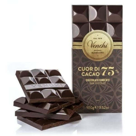 Cuor di Cacao 75% Dark Chocolate - 100g bar VENCHI