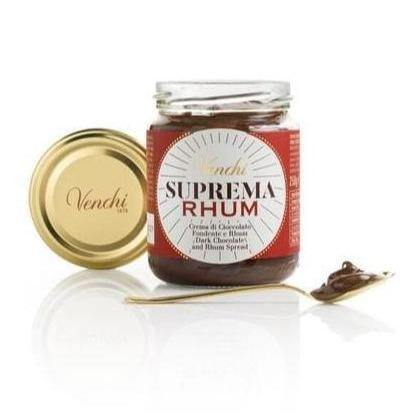VENCHI spreadable cream Suprema Dark Chocolate Spreadable Supreme Cream with Rhum Chocolate - 250g jar VENCHI