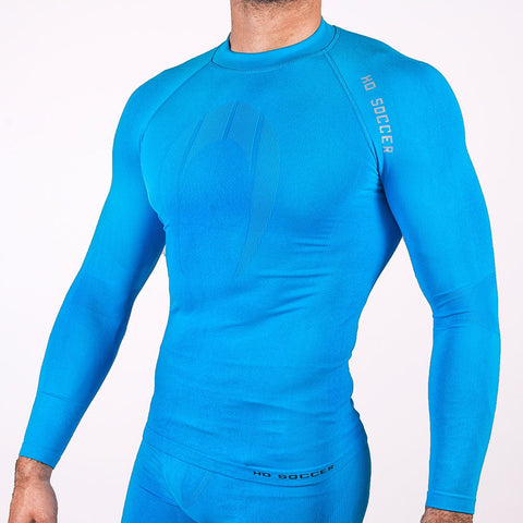 UNDERWEAR SHIRT PERFORMANCE LONG SLEEVE BLAU