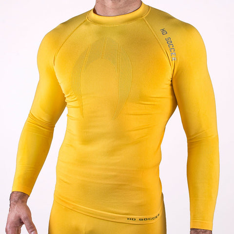 UNDERWEAR SHIRT PERFORMANCE LONG SLEEVE GELB