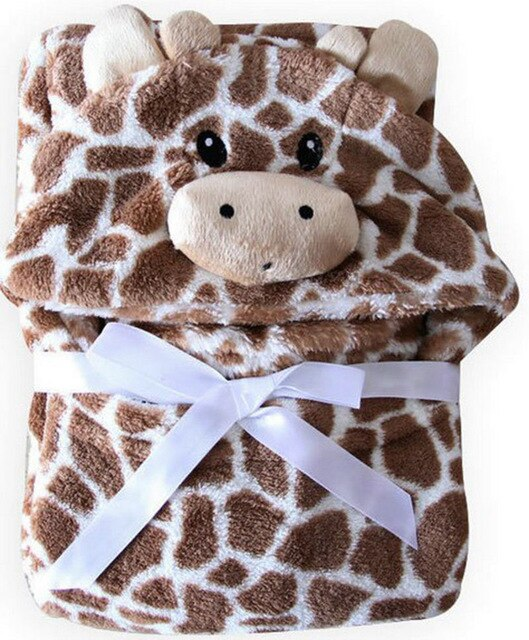 Bath Bear Shaped Baby Hooded Bathrobe Soft Infant Newborn Giraffe Towel Blanket - Les Meridien