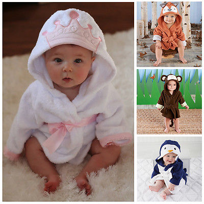 Friends Animal Charater Square Hooded Bath Towel Set Baby Product Cartoon Baby Robe 100% Cotton Infant Bath Towels - Les Meridien