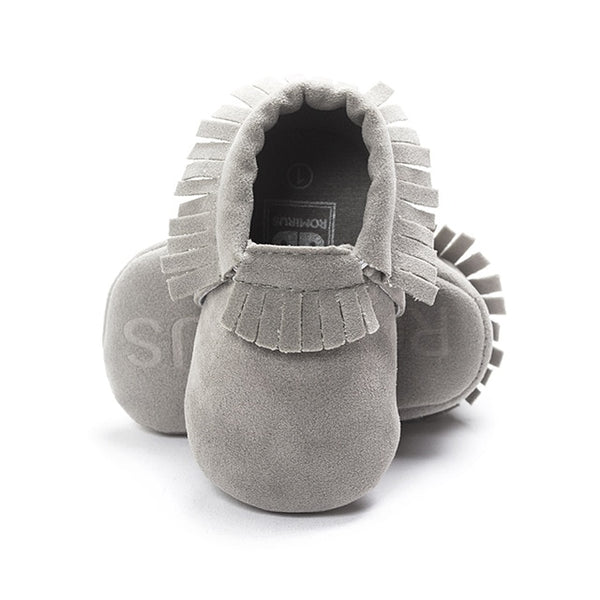 Suede Leather Newborn Baby Moccasins - Les Meridien