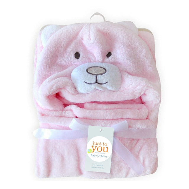 Lovely fleece baby bath hooded baby towel - Les Meridien