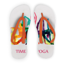 Laden Sie das Bild in den Galerie-Viewer, Time to Yoga Adult Flip Flops