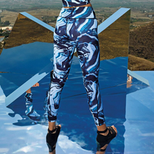Laden Sie das Bild in den Galerie-Viewer, Time to Yoga Women's Performance Marble Leggings