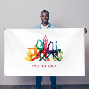 Time to Yoga Sublimation Flag