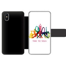 Laden Sie das Bild in den Galerie-Viewer, Time to Yoga Front Printed Wallet Cases