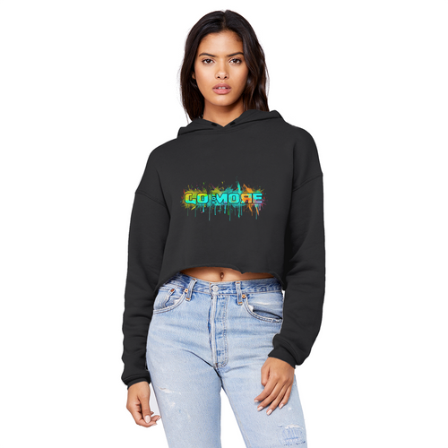 Go for More Unisex Cropped Raw Edge Boyfriend Hoodie