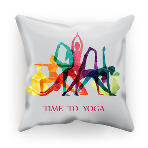 Time to Yoga Sublimation Cushion Cover