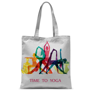 Time to Yoga Classic Sublimation Tote Bag