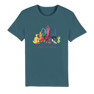 Time to Yoga Organic Jersey Adult T-Shirt