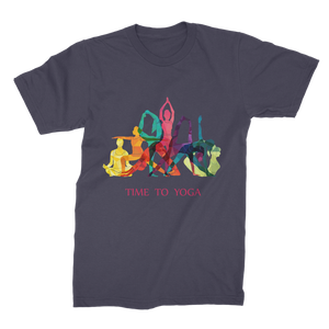Time to Yoga Premium Jersey Men's T-Shirt