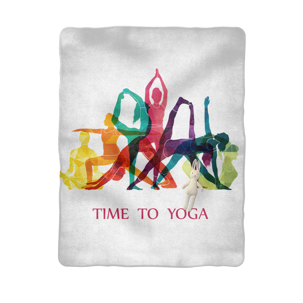Time to Yoga Sublimation Baby Blanket