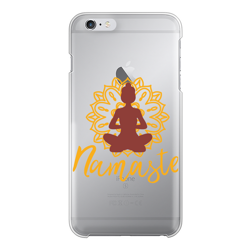 - Namaste - Back Printed Transparent Hard Phone Case