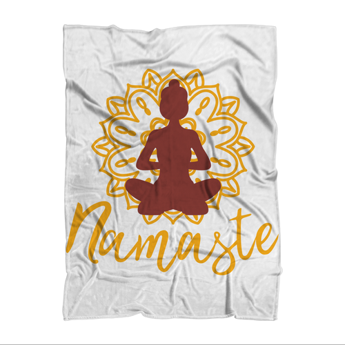 - Namaste - Sublimation Throw Blanket