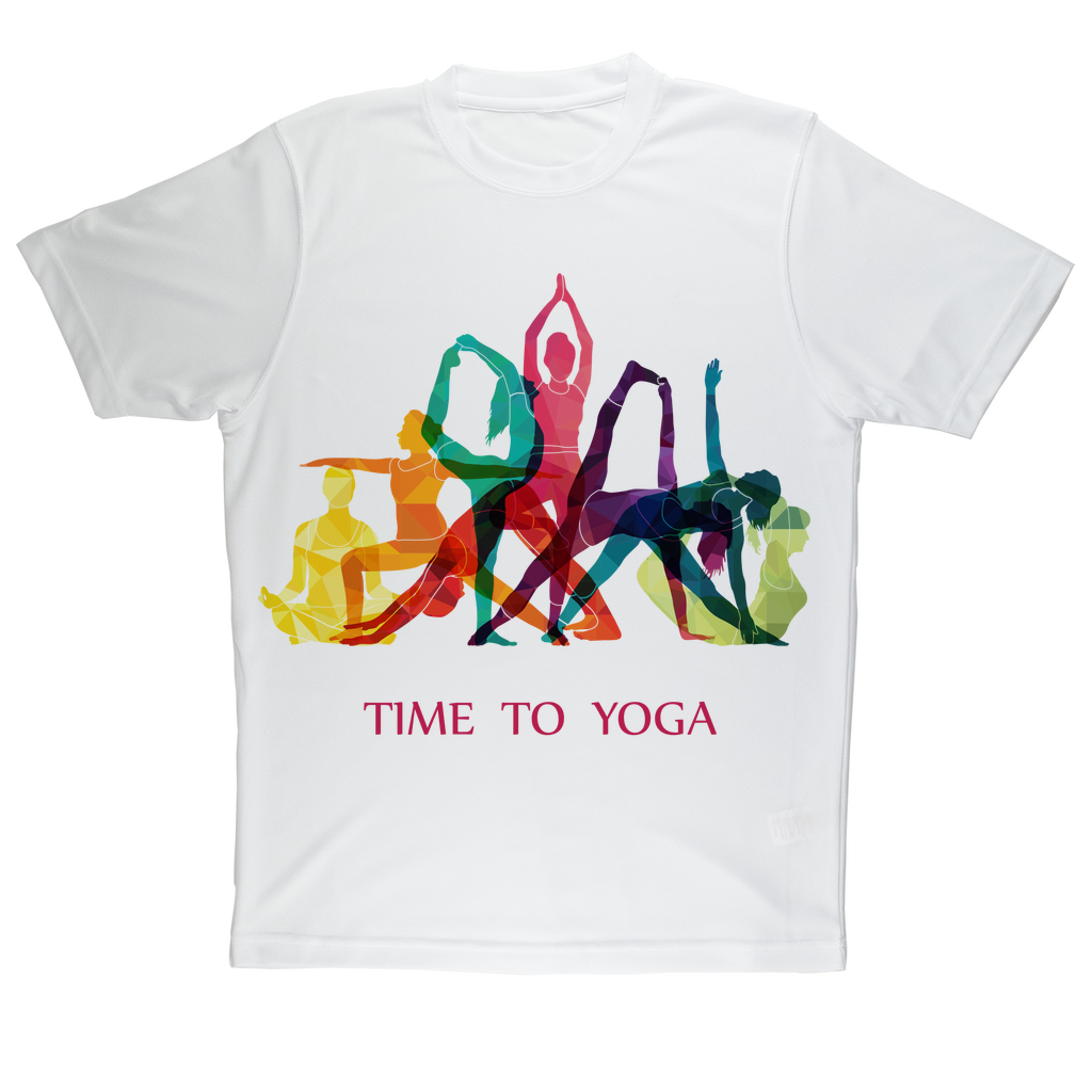 Time to Yoga Sublimation Performance Adult T-Shirt