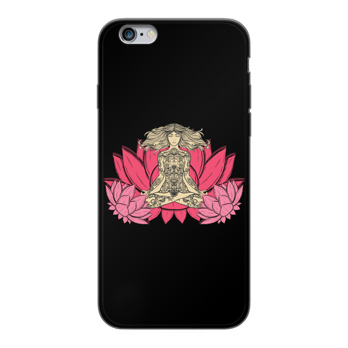 - Yoga Stile - Back Printed Black Soft Phone Case