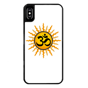 OM Back Printed Black Hard Phone Case