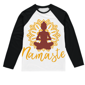 - Namaste - Sublimation Baseball Long Sleeve T-Shirt