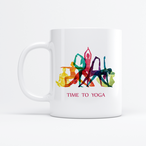 Time to Yoga 11oz Tasse