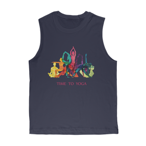 Time to Yoga Premium Adult Muscle Top