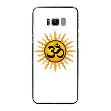 Laden Sie das Bild in den Galerie-Viewer, OM Back Printed Black Hard Phone Case