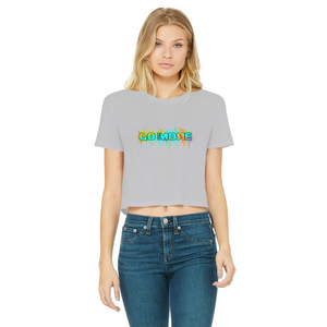 Go for More Classic Women's Cropped Raw Edge T-Shirt