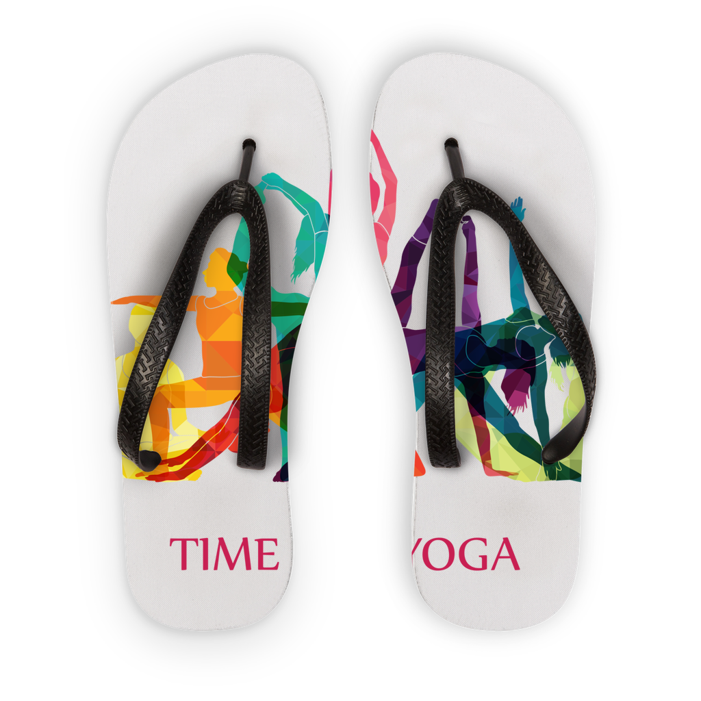 Time to Yoga Adult Flip Flops