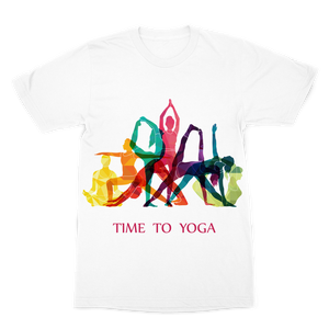 Time to Yoga Premium Sublimation Adult T-Shirt