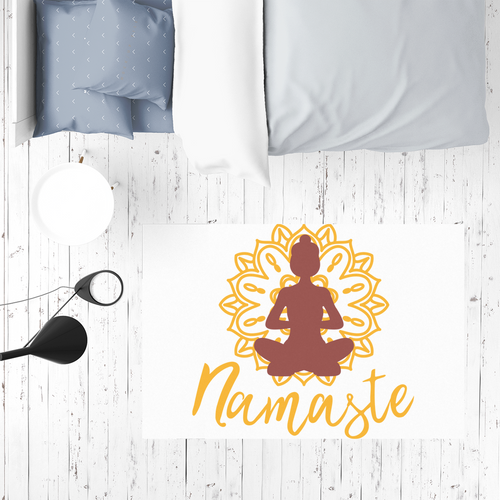 - Namaste - Sublimation Mat / Carpet / Rug / Play Mat / Pet Feeding Mat