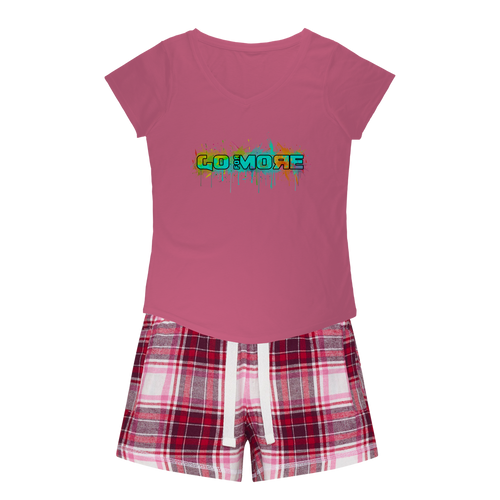 Go for More Girls Sleepy Tee and Flannel Short