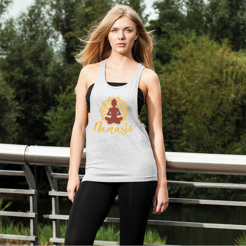 - Namaste - Women's Loose Racerback Tank Top