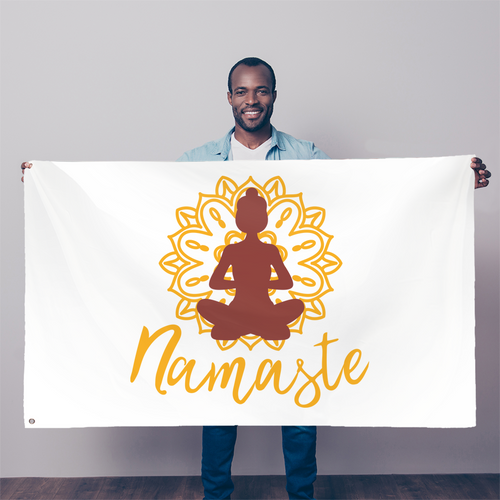 - Namaste - Sublimation Flag