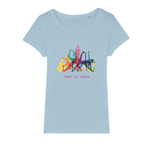 Time to Yoga Organic Jersey Womens T-Shirt