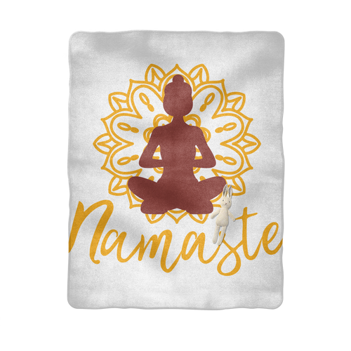 - Namaste - Sublimation Baby Blanket