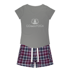 Go mein Yoga Girls Sleepy Tee and Flannel Short