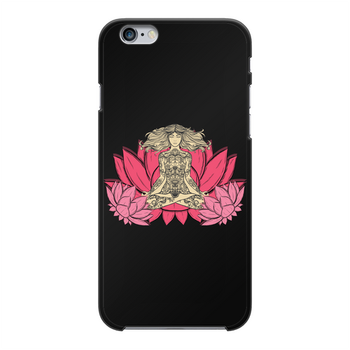 - Yoga Stile - Back Printed Black Hard Phone Case