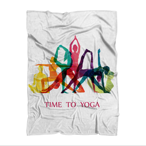 Time to Yoga Sublimation Throw Blanket