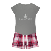 Laden Sie das Bild in den Galerie-Viewer, Go mein Yoga Girls Sleepy Tee and Flannel Short