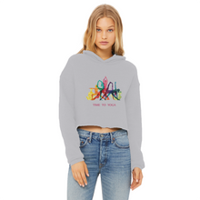 Laden Sie das Bild in den Galerie-Viewer, Time to Yoga Ladies Cropped Raw Edge Hoodie