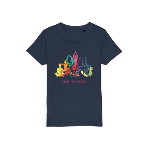 Time to Yoga Organic Jersey Kids T-Shirt