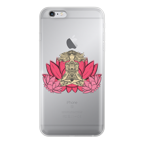 - Yoga Stile - Back Printed Transparent Soft Phone Case