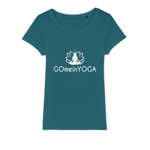 Laden Sie das Bild in den Galerie-Viewer, Go mein Yoga Organic Jersey Womens T-Shirt