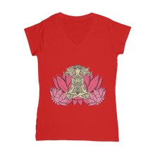 Laden Sie das Bild in den Galerie-Viewer, - Yoga Stile - Classic Women's V-Neck T-Shirt