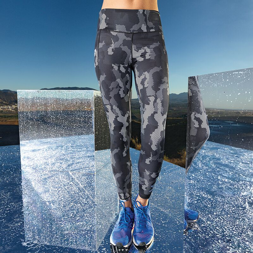 Time to Yoga Women's Performance Hexoflage Leggings
