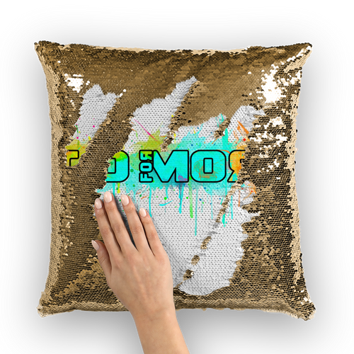 Go for More Sequin Cushion Cover