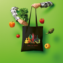 Laden Sie das Bild in den Galerie-Viewer, Time to Yoga Shopper Tote Bag